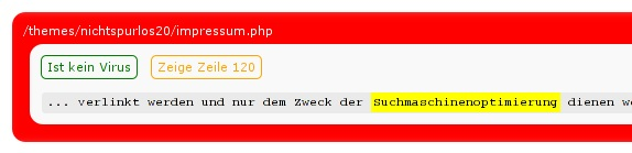 Virenwarnung des Anti-Virus-Plugins