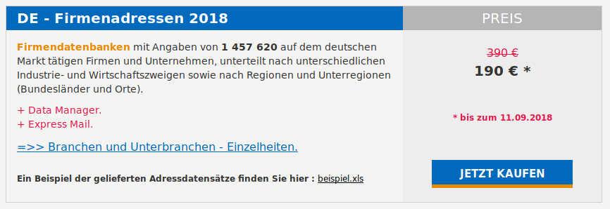 Adressenhandel Deutschland Datenschutz