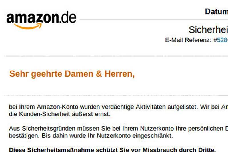 Phishing Amazon Betrug