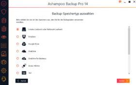 Ashampoo Backup Ziele