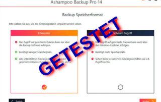 Ashampoo Backup Pro 14 Test