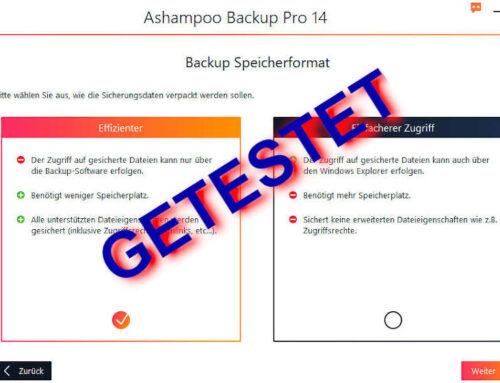 Ashampoo Backup Pro 14 in neuem Gewand