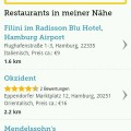 Bookatable Restaurantauswahl