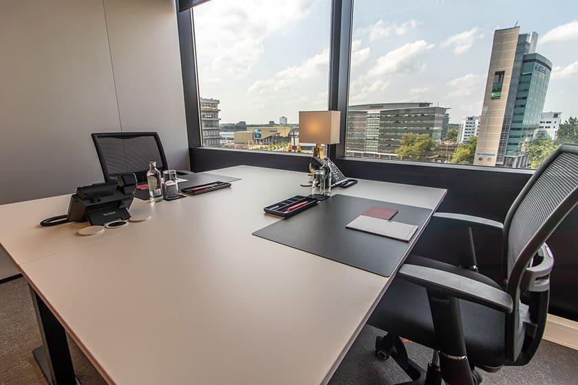Büro Schreibtisch Ausblick