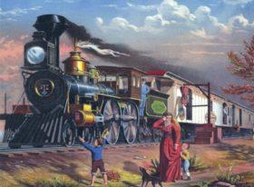 Szenerie Dampfzug