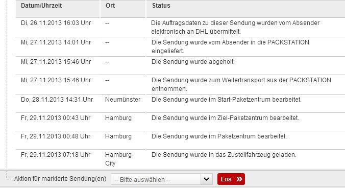 DHL Paket Hamburg