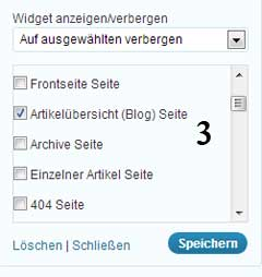 Display Widgets Einstellungen 2