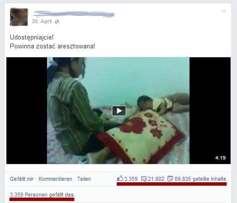 Facebook Kindesmisshandlung