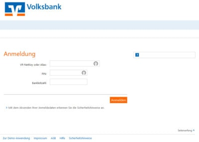 Phishing Volksbank PSD2