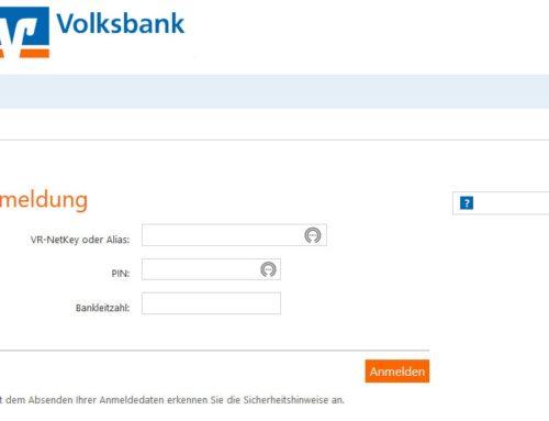Volksbank Phishing – PSD2 Richtlinie Umstellung