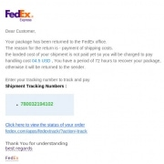 FedEx Phishing Spam