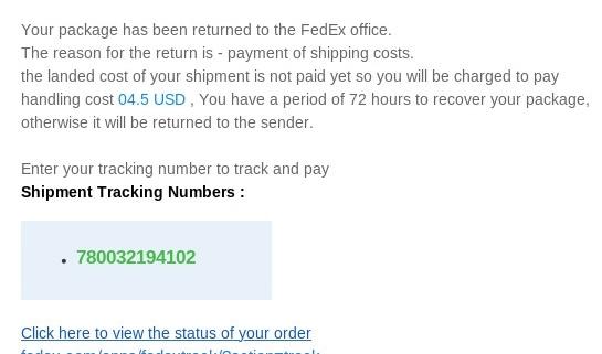 FedEx Phishing Spam