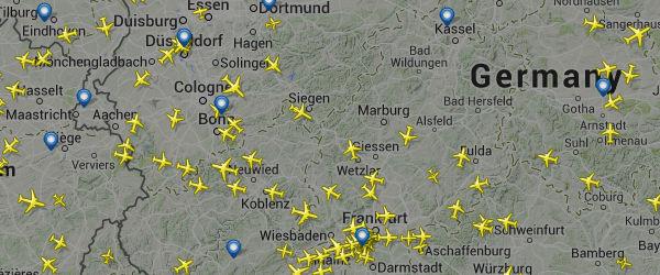 Flugradar Deutschland