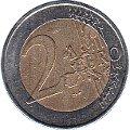 Geld Münze 2 Euro