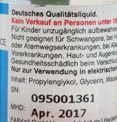 e-liquid inhaltsbeschreibung