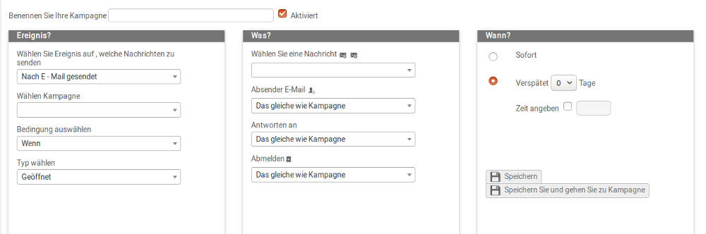 Mailpro automatisierte E-Mails