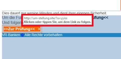 Phishing Volksbank PSD 2