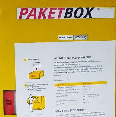 paketbox leerung