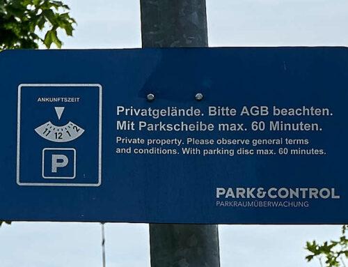 Knöllchen von Park & Control nicht berechtigt