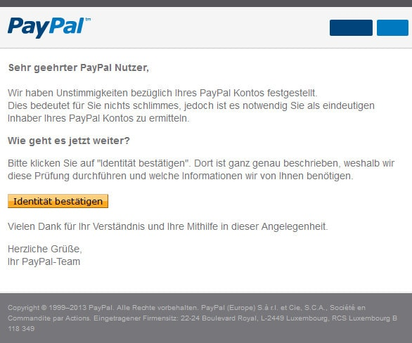 paypal-betrugsversuch