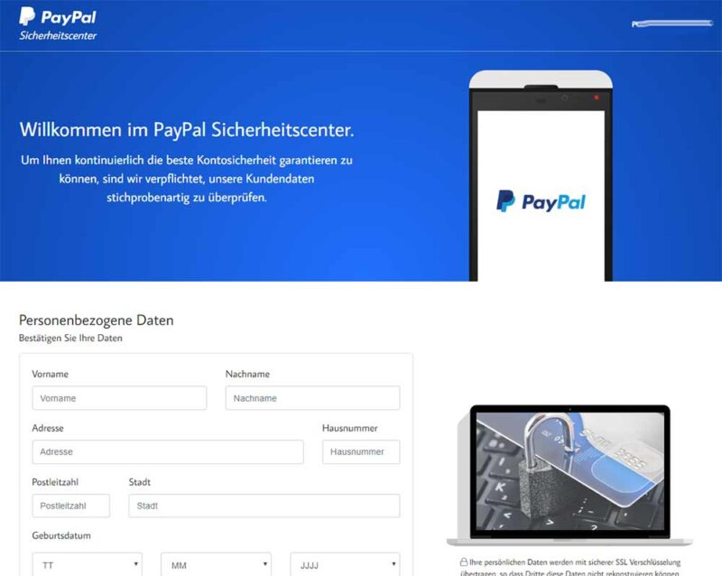 PayPal Betrug
