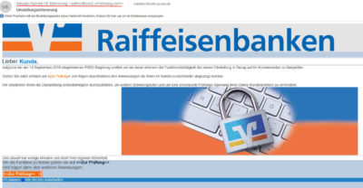 Phishing Mail Volksbank