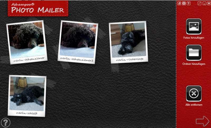 Photomailer Bildimport