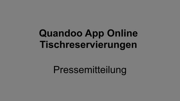 Quandoo App Online Tischreservierungen