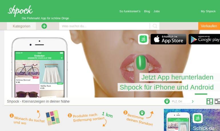 Shpock Flohmarkt App