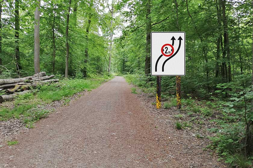 StVO Waldweg Saarland