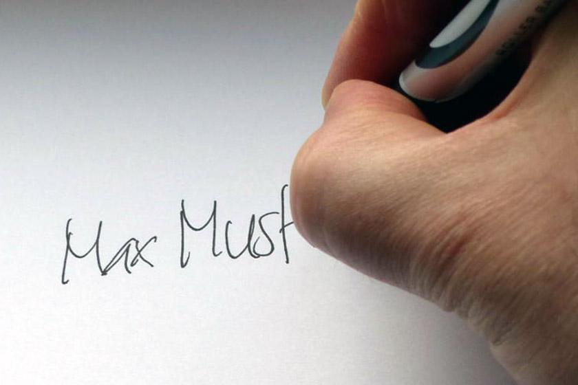 unterschrift, unterschreiben