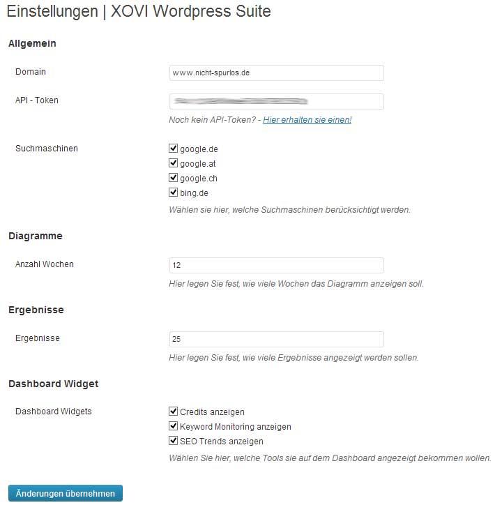 xovi-wordpress-einstellungen